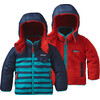 Patagonia Babies Reversible Tribbles Hoody Pitch Stripe: Navy Blue